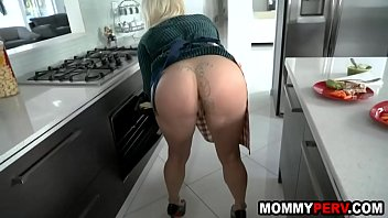 Step-mom teasing and fucking son
