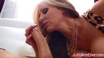 Busty Milf Julia Ann Gets Tits Covered in Cum!