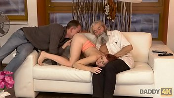 DADDY4K. Comely Teen Savors Fingering From Both Boyfriend And His Dad