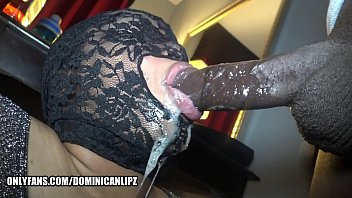 Sloppy dick sucking Dominican lipz dick sucking lips gripping a bbc- www.onlyfans.com/dominicanlipz