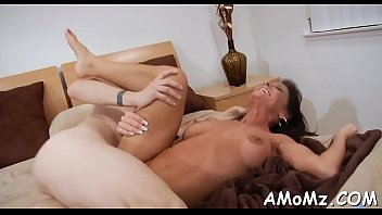 Mom sex holes Boy stuffs cock in older hole