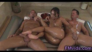 Asa Akira double massage
