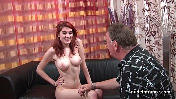 Nude hirsute babes Busty french redhead babe deep anal fucked with cum on ass for her casting couch