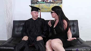Dude graduated, got JERKED off by his Step Mom