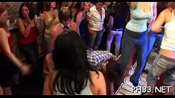 Tons of team fuck on dance floor