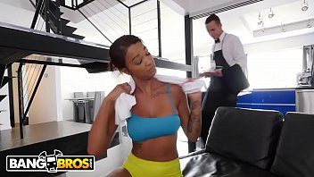 BANGBROS - Ebony Harley Dean Making Butler's Day With Her Big Tits and Big Ass