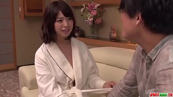 Milf in heats Wakaba Onoue amazing sex in bedroom with son - More at Japanesemamas com