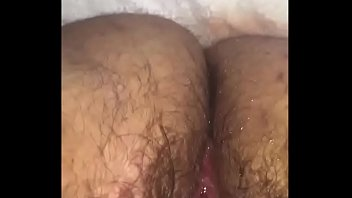 Fingering a BBW's Hairy Pussy to a Squirting Mess