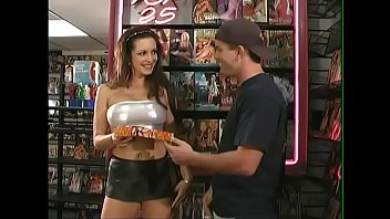 Brunette bombshell Taylor St. Claire came to the XXX movies shop to get personal tuition