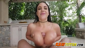 Hot brunette loves to squeeze fat cocks with her titties