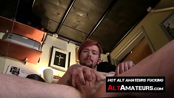 Gay crotch watching Skater dude hazy mazy plays with his hairy long sword solo