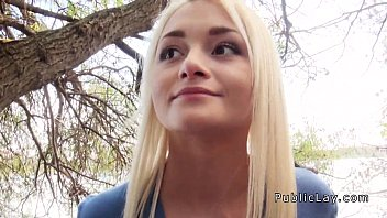 Russian blonde nurse banging in public