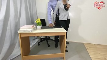 Huge squirt and anal fuck for protect my job at office. preview. Ashavindi