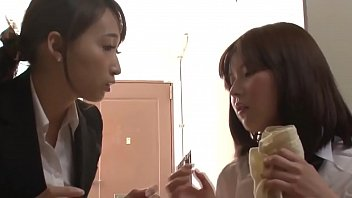 Cute Asian Schoolgirl Seduces Teacher and Makes Her Squirt