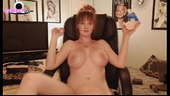 MILF Redhead with big Boobs from Texas using her Dildo on CAMS27.com