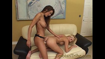lesbians teens with perfect tits love each other with strap-on