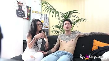 FAKings experiment: Tattoed strangers watching porn together alone
