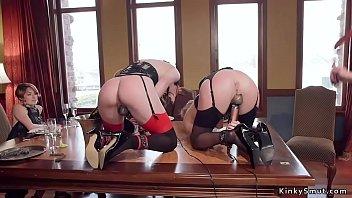 Senior slave gives lessons to novice