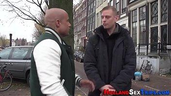 Dutch ho jizzed for cash