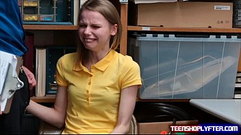 Skinny teen shoplyfter Catarina Petrov sob and slob knob Thumb