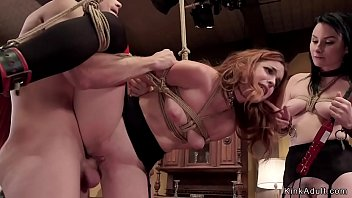 Slaves in lingerie hard pounded
