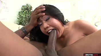 BBW asian destroyed by big black cock