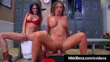 Nikki Benz & Jessica Jaymes Makes Pro Wrestler Shoot His Cum