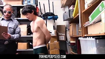 Twink black - Asian twink with small cock caught shoplifting fucked by security