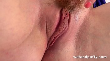 Hairy Pussy Orgasm - Redhead Beauty