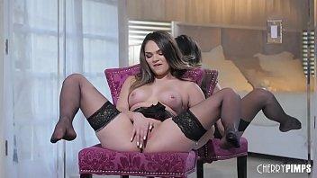 Glamorous Big Tit Brunette Athena Faris Solo Fingering Her Shaved Twat