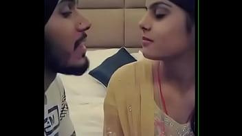 Punjabi boy kissing girlfriend