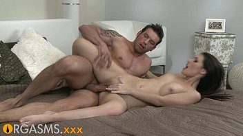 ORGASMS Hot brunette with great tits fucked in all positions Preview
