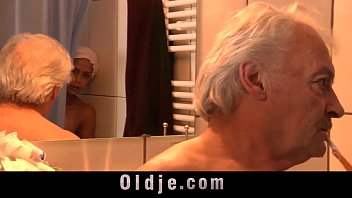 Black big boobs teen fucking old guy in shower after caught masturbating