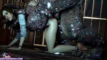 3d son porn Monster uses cute girl as his fucktoy