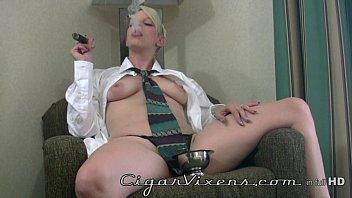 Dixie Lea SMOKES a cigar