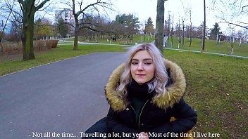 Cute teen swallows hot cum for cash - extreme public blowjob by Eva Elfie image