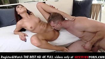 12138 Hot Kara Faux gives footjob and gets fucked on the couch! preview