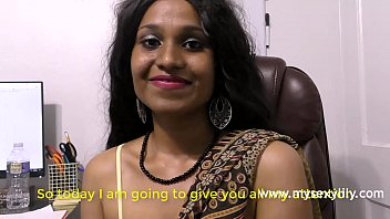 Indian Girl Lily Rubbing Her C