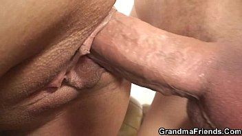 Old ladies orgys - Interracial threesome orgy with granny