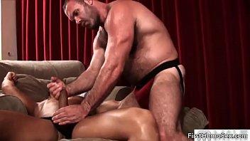 Sexy dudes suck stiff rod
