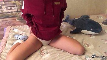 Babe Masturbates Wet Pussy Through Panties