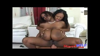 Black girls with big tits - Huge tits ebony on white guy