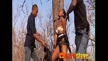 Awesome black lady gets banged outside