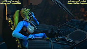 Samus Aran on a strange Alien Planet being fucked by Xenomorphs hardcore 3D Animation