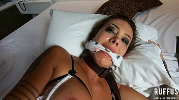Tied up babe does deep throat and has her ass broken into - Ana Rothbard - full video on RED