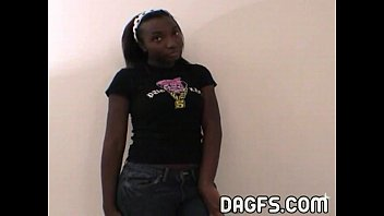 Prtite teen Danielle luv ebony teen tryout