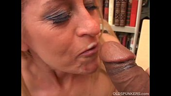 Horny Milf Cums Hard While Sucking Cock