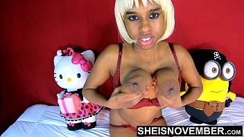 Black Nipples Big Areolas Natural Titties On Skinny Young Babe Msnovember Squeezing Her Saggy Breasts Hard , Large Round Brown Tits Bouncing On Busty Chest Close Up With Smooth Skin On Cute Spinner 4k Sheisnovember video