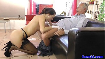 European mature fucks babe with husband