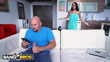 BANGBROS - Jmac Spies On His Busty Stepmom Victoria June In The Shower